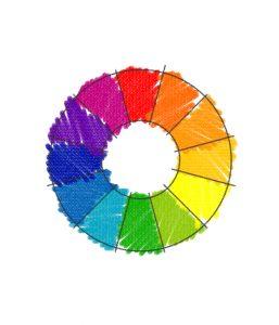 Farbrad: Die Farben des Regenbogens