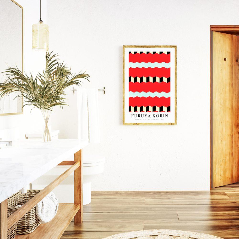 Japandi par excellence mit einen Holzschnitt Print von Furuya Korin