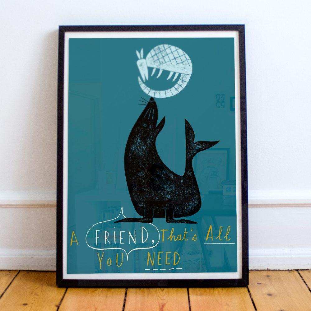 'A friend is all you need' von Jean-Manuel Duvivier