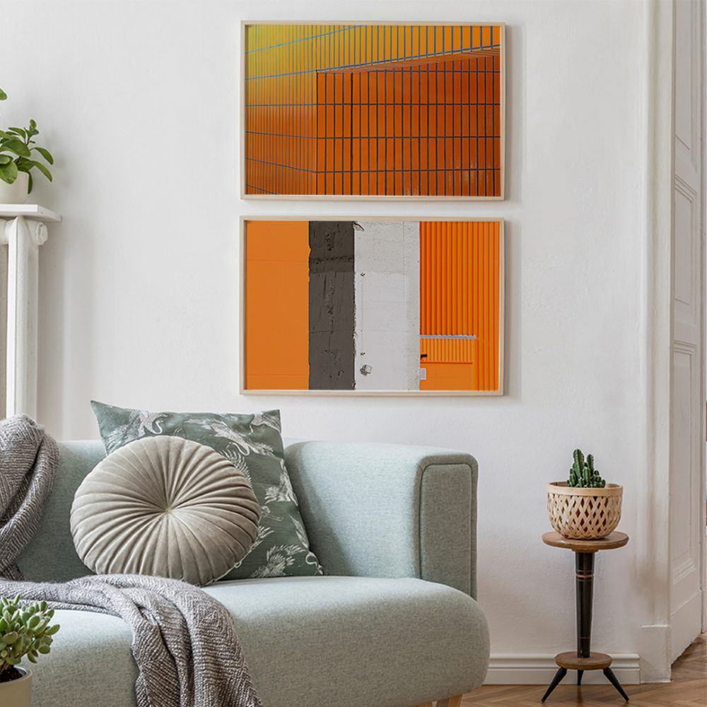 'Orange IV' und 'Globus I' von Michael Belhadi