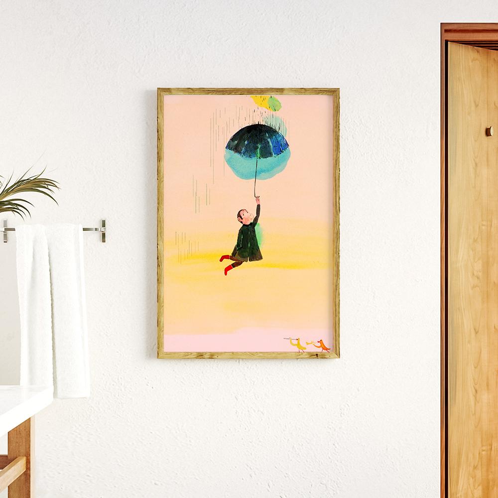 Wandbild im Rahmen 'Up' von Alexandra Sternin