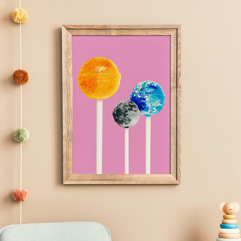 Gerahmtes Design 'Lollipops' von Jonas Loose