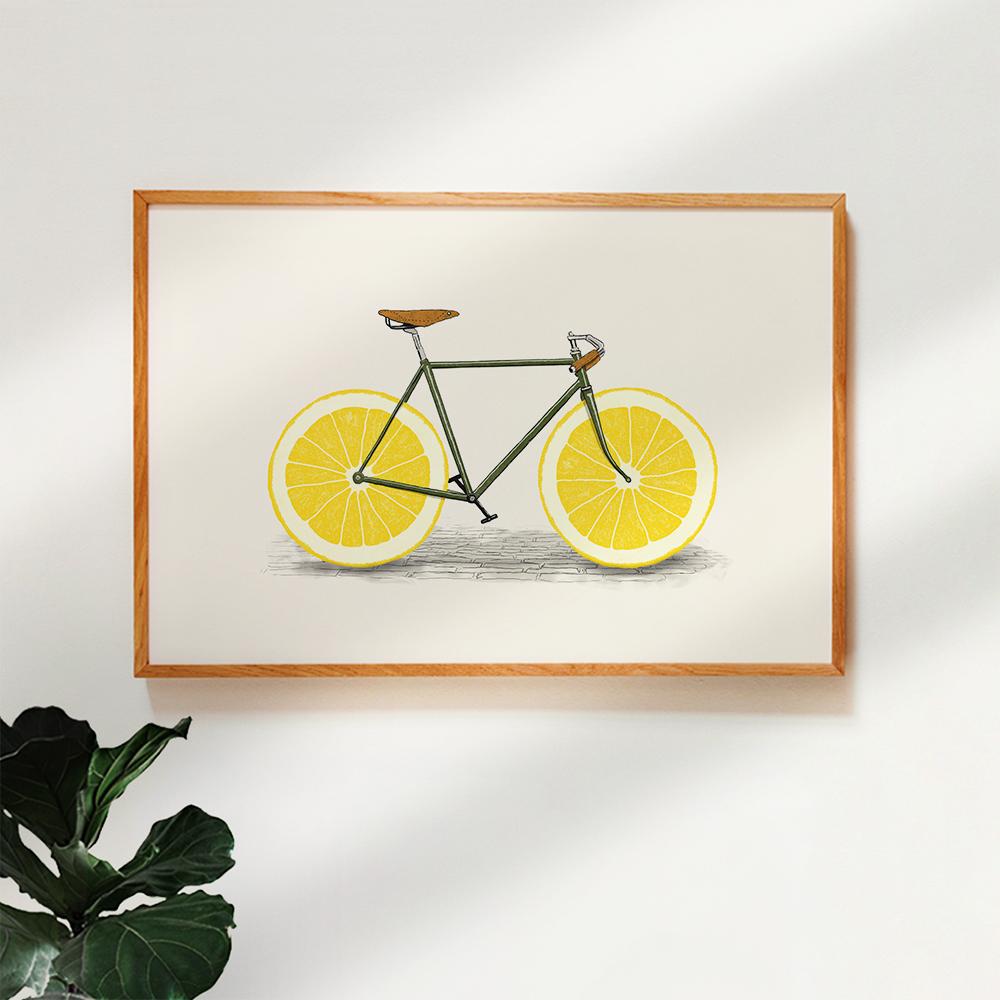Gerahmtes Poster 'Zest' von Florent Bodart