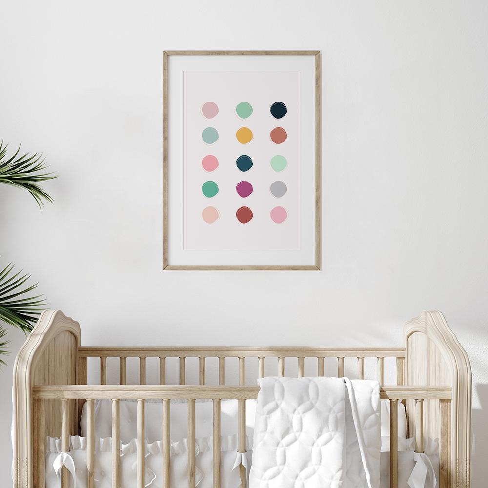 Gerahmtes Poster 'Colour Palette' von Frankie Kerr-Dineen