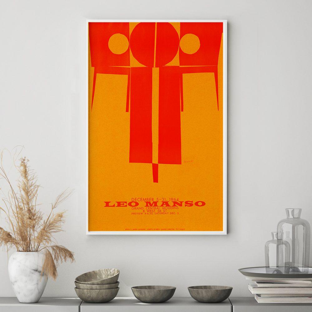 Bild mit weißem Rahmen 'Leo Manso' von Vintage Collection