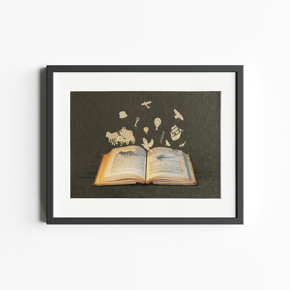 'Geflügeltes Wort - Illustration aus der Bücherwelt' von Florent Bodart