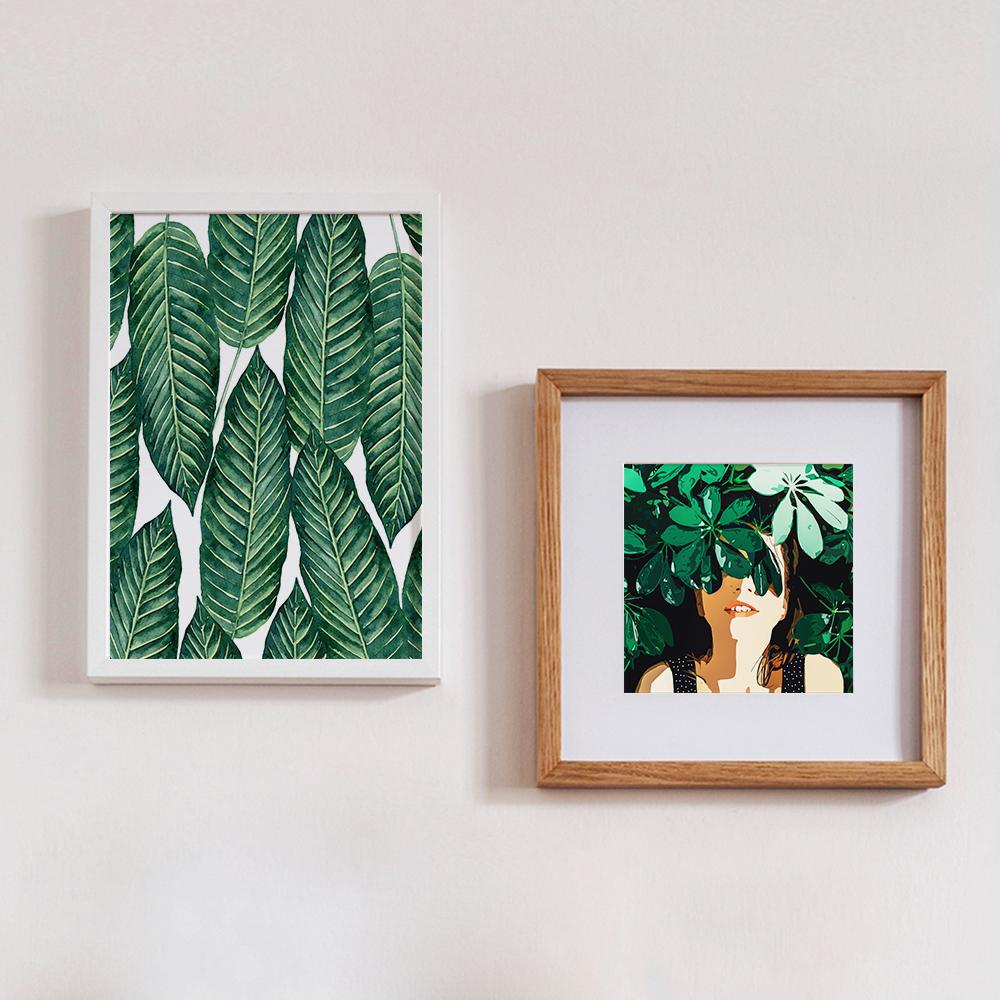 Wandbilder 'Hello Freshness' und 'Blinded By Leaves' von Uma Gokhale