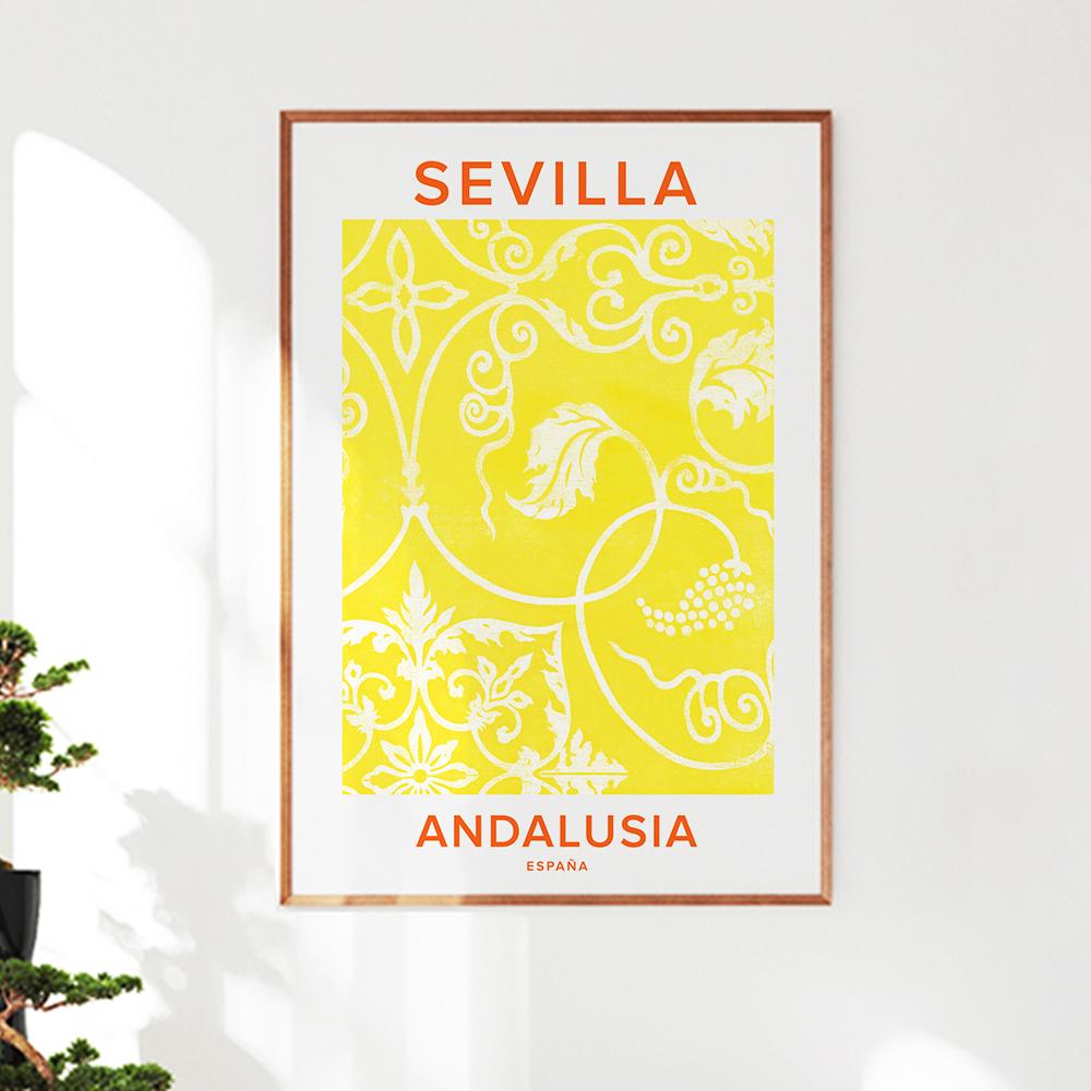 Wandbild 'Sevilla' von Typo Art
