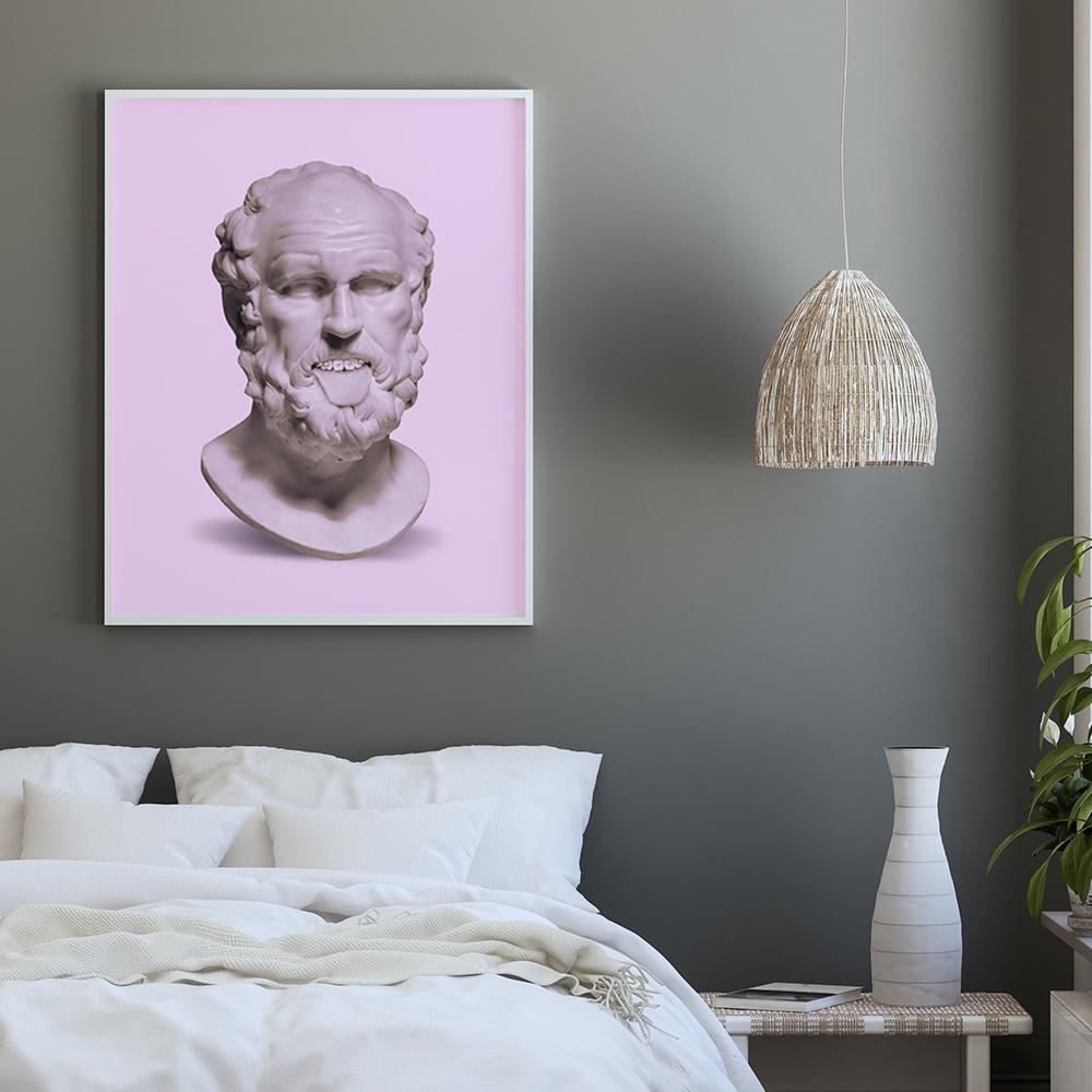 Wandbild im Schlafzimmer 'Braces Bust' von Jonas Loose