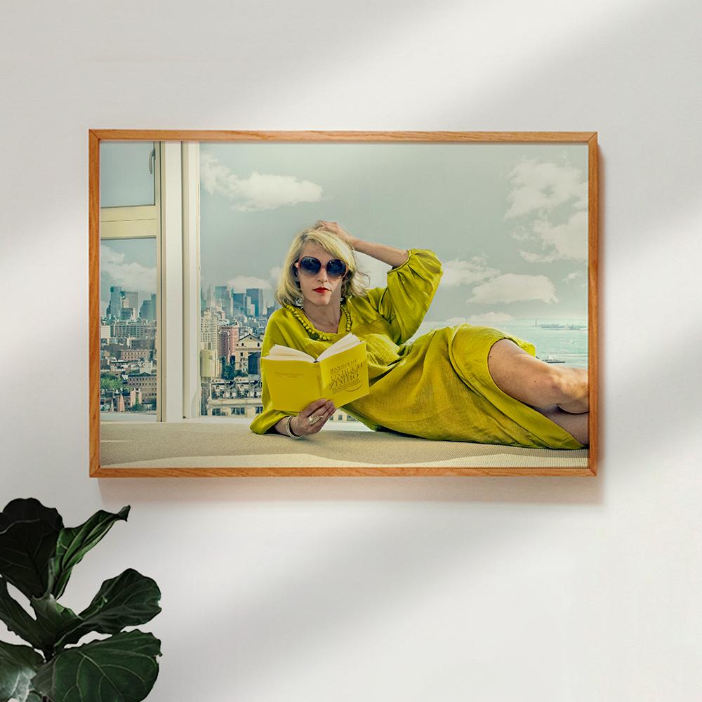Poster im Holzrahmen 'Oxygene' von Ambra