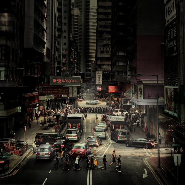 Fotokunst von Rob van Kessel - Crossing Hong Kong