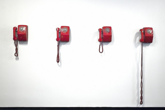 Telephones (in a hotel lobby) by Jeff Seltzer
