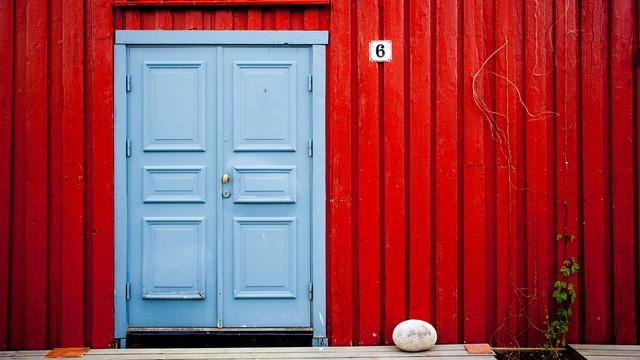 Blaue Tür von Torsten Muehlbacher