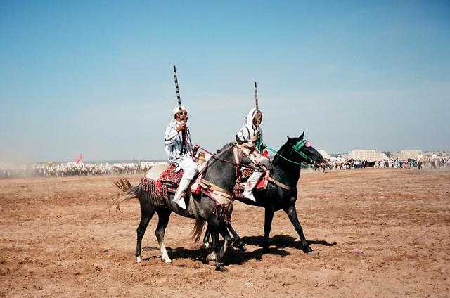 Fantasia competition near Rabat Morocco by Jim Delcid