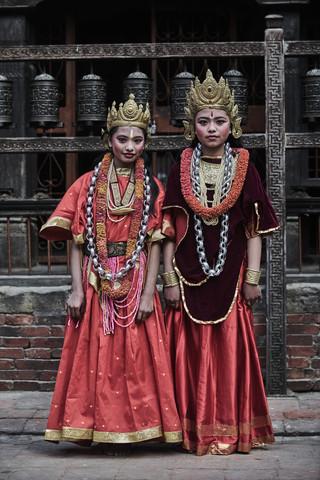 NEWARI GIRLS FROM NEPAL by Jan Møller Hansen