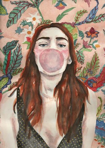 Bubblegum and pattern von Andy McFly